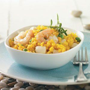 Scallops & Shrimp with Yellow Rice