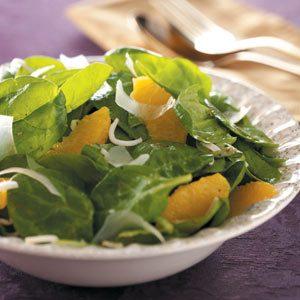 Orange Vinaigrette Spinach Salad