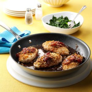 Almond Chicken & Strawberry-Balsamic Sauce
