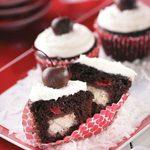 Cherry Chocolate Coconut Cupcakes