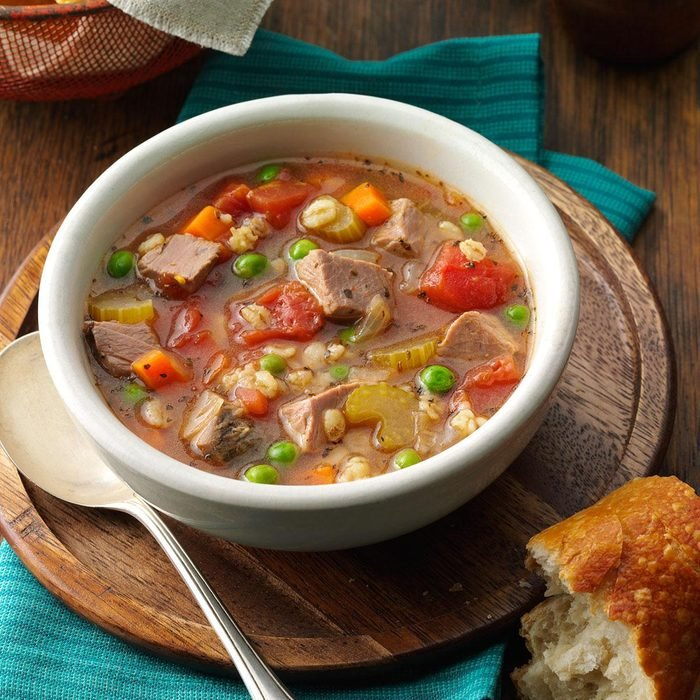 Day 2 Lunch: Beef Barley Soup for 2