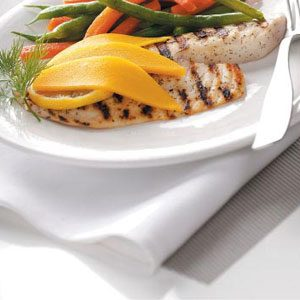 Grilled Tilapia with Mango for 2