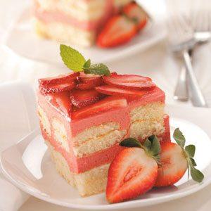 Strawberry Rhubarb Torte