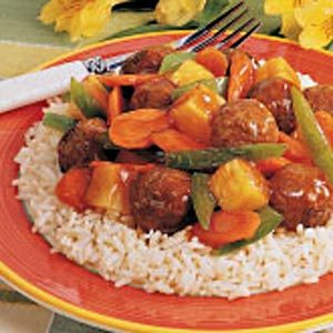Sweet 'n' Sour Meatballs for 2