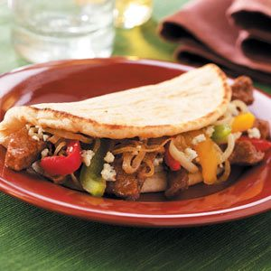 Hearty Sirloin Pitas