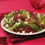 Spring Greens with Beets and Goat Cheese