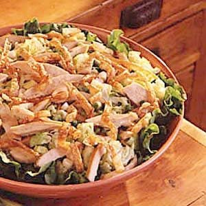 Chinese Chicken Salad with Peanut Sesame Dressing