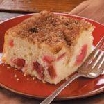 Rhubarb-Buttermilk Coffee Cake