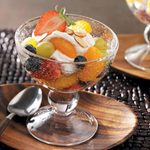 Fruit & Cream Layered Salad