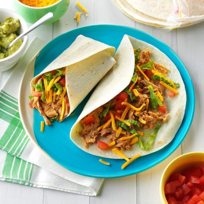 Slow-Cooked Pork Burritos