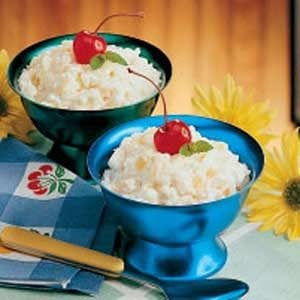 Pineapple Rice Pudding