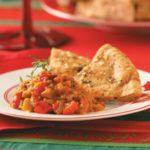 Mediterranean Dip with Garlic Pita Chips