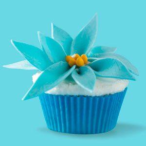 Winter Fantasy Poinsettia Cupcakes