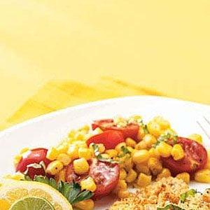 Sauteed Corn with Tomatoes & Basil