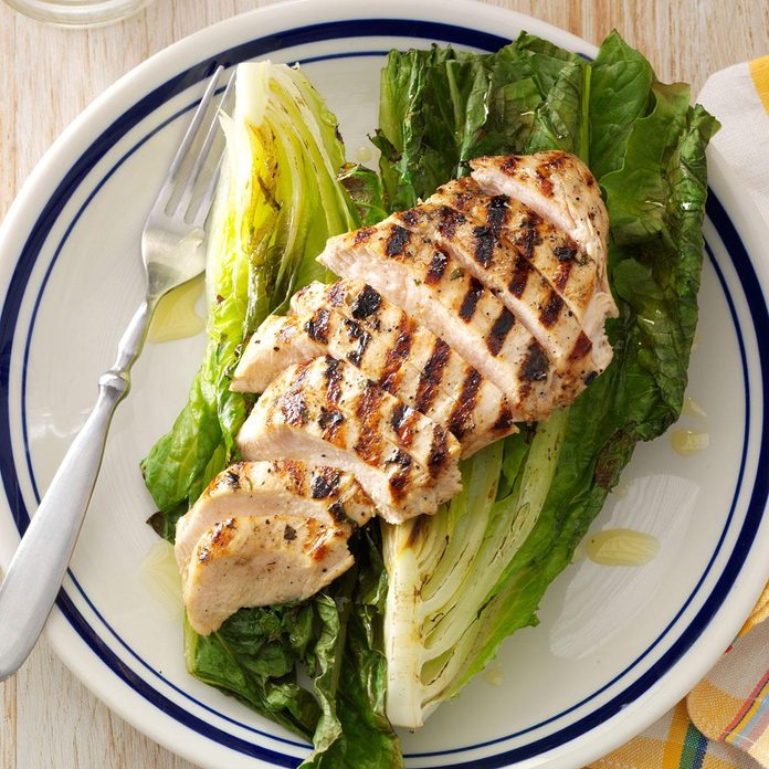 New Hampshire: Grilled Basil Chicken