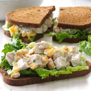 Cashew Turkey Salad Sandwiches