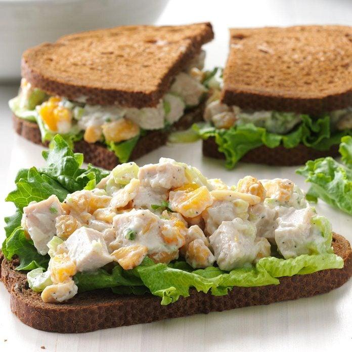 Cashew Turkey Salad Sandwiches