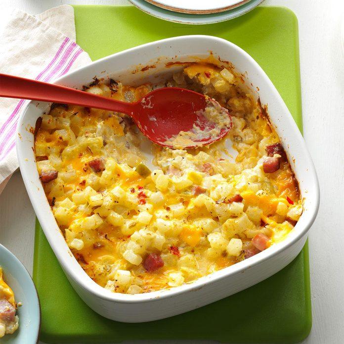Day 20: Ham & Cheese Potato Casserole
