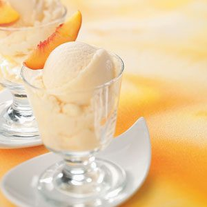 Frozen Peach Yogurt