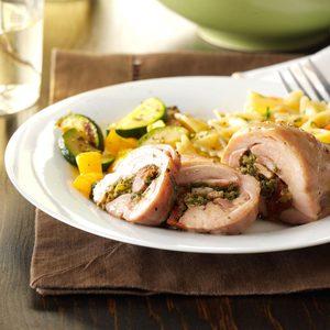 Spinach-Pesto Spiral Chicken