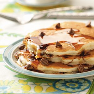 Banana Chip Pancakes