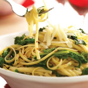 Broccoli Rabe & Garlic Pasta for 2
