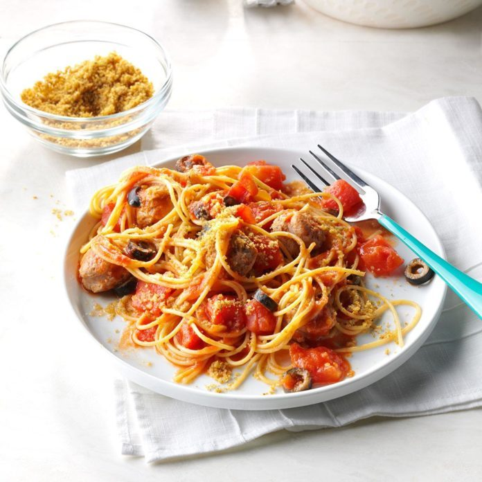 Simple Sausage Pasta Toss