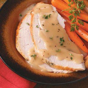 Roast Turkey Breast with Rosemary Gravy