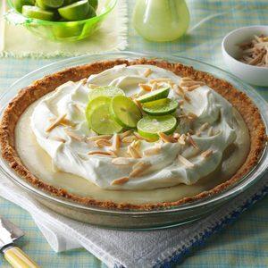 Marshmallow-Almond Key Lime Pie