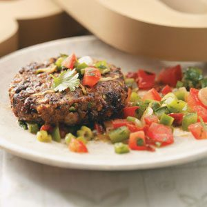 Black Bean Cakes with Mole Salsa