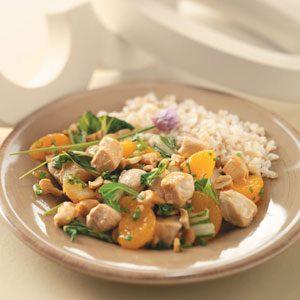 Orange-Cashew Chicken and Rice