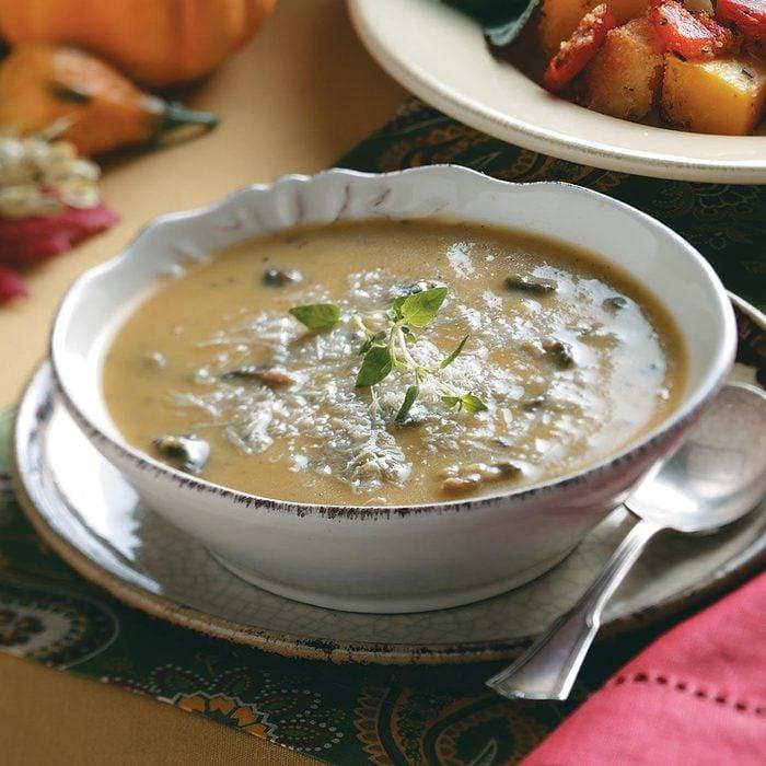 Cremini & Butternut Squash Soup