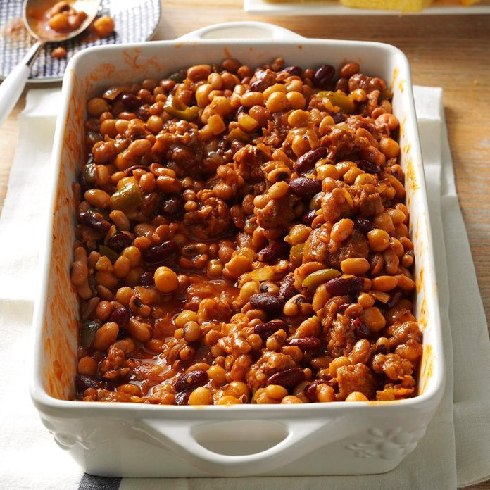 Best Ever Beans and Sausage