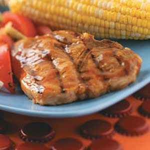 Glazed Pork Chops for 2