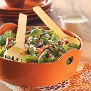 Corn and Spinach Salad