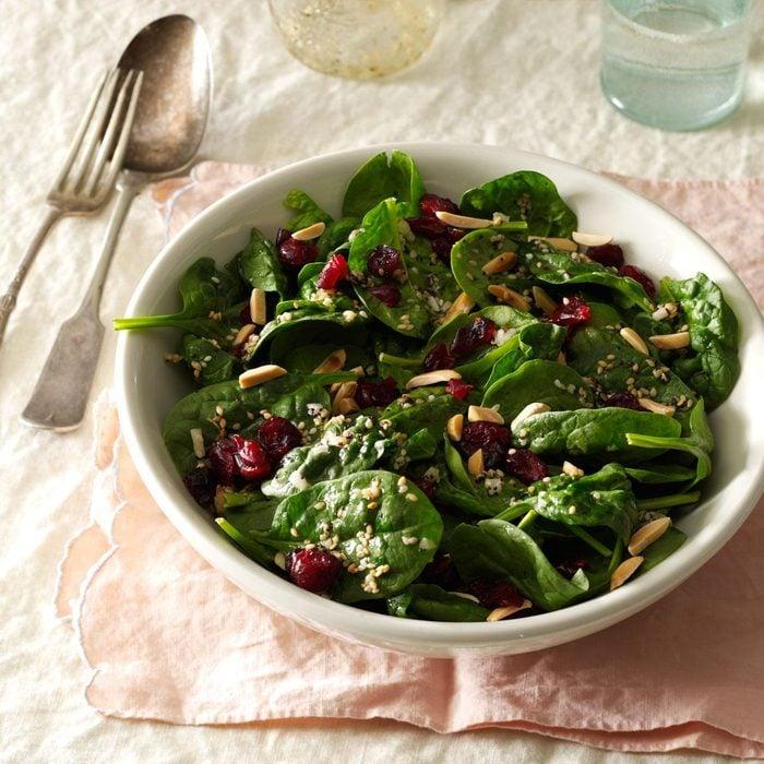 Cranberry-Sesame Spinach Salad
