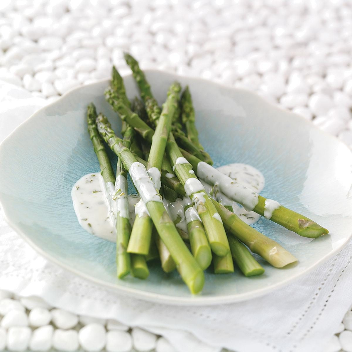 Asparagus with Tarragon Lemon Sauce