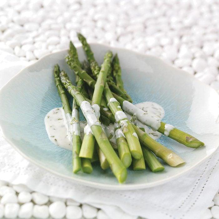 Asparagus with Tarragon Lemon Sauce