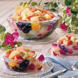 Frozen Flower Serving Bowls