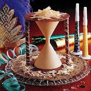 Chocolate New Year's Hourglass