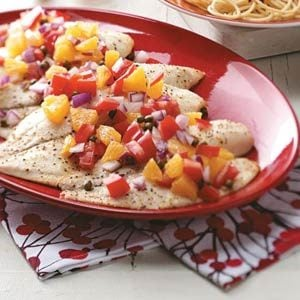 Tilapia with Tomato-Orange Relish