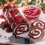 Chocolate Cherry Cream-Filled Log