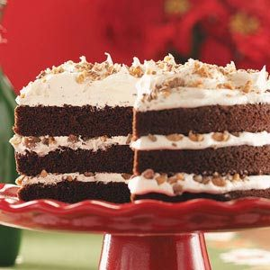 Toffee-Mocha Cream Cake