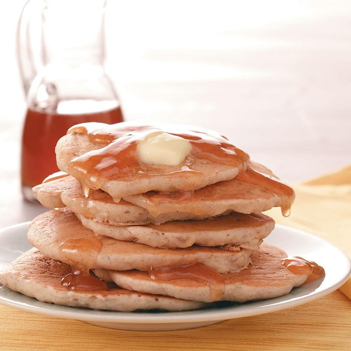 Sweet Apple Pancakes with Cider Syrup