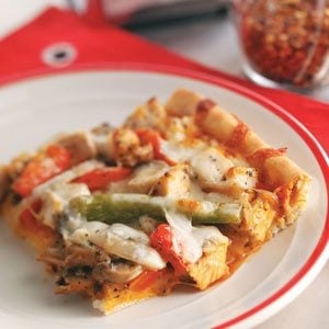 Deep-Dish Chicken Pizza