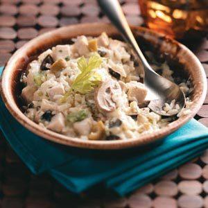 Creamy Chicken and Mushroom Rice Casserole