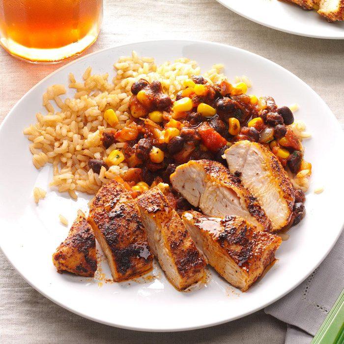 Black Bean Chicken with Rice