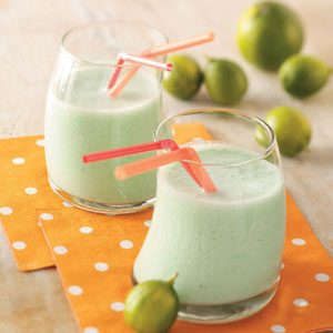 Lime Milk Shakes for Two