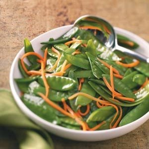 Snow Pea & Carrot Saute for Two