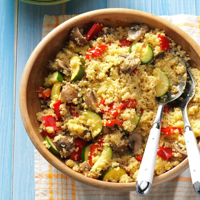 Dijon Veggies with Couscous